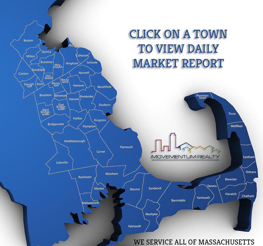 South Shore, MA Market Report Map